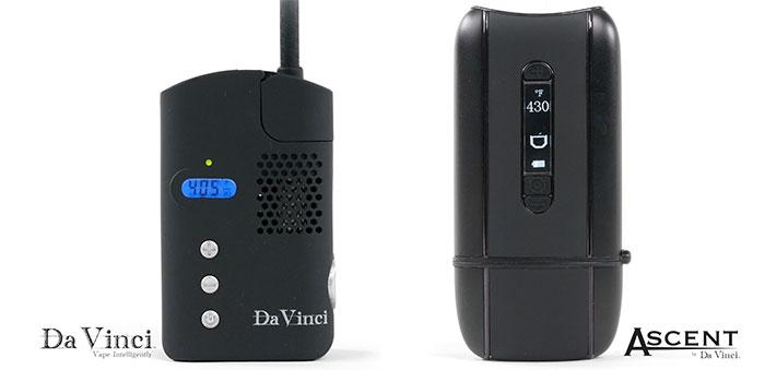 DaVinci Classic ed Ascent vaporizzatori portatili