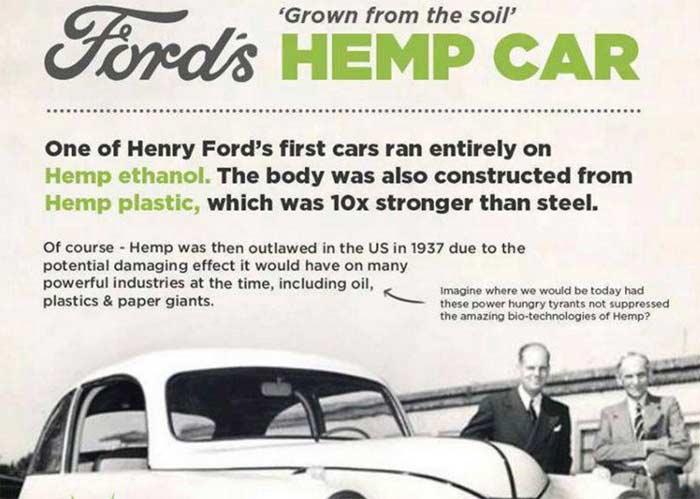 La macchina di Henry Ford a bioetanolo di Canapa