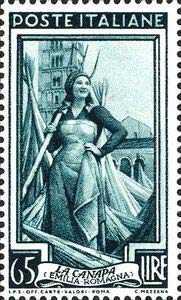 francobollo sulla canapa Italiana in Emilia Romagna