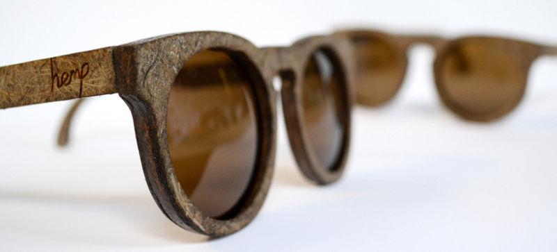 occhiali in plastica di canapa